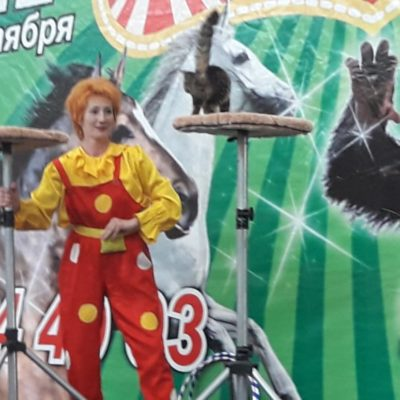 "The artists of the Kazakh State Circus conducted a performance in ""Aport"""